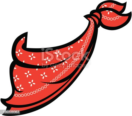 istock Red Bandanna or Handkerchief 136509363