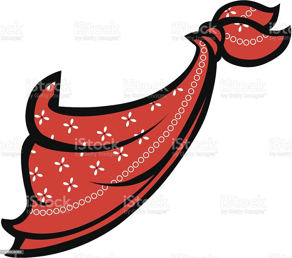 Red Bandanna or Handkerchief vector art illustration