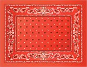 A vector illustration of a red bandanna.