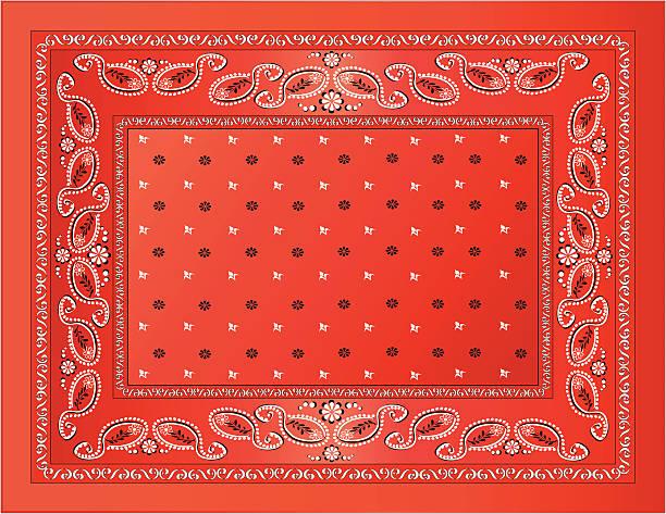 Red Bandanna vector art illustration