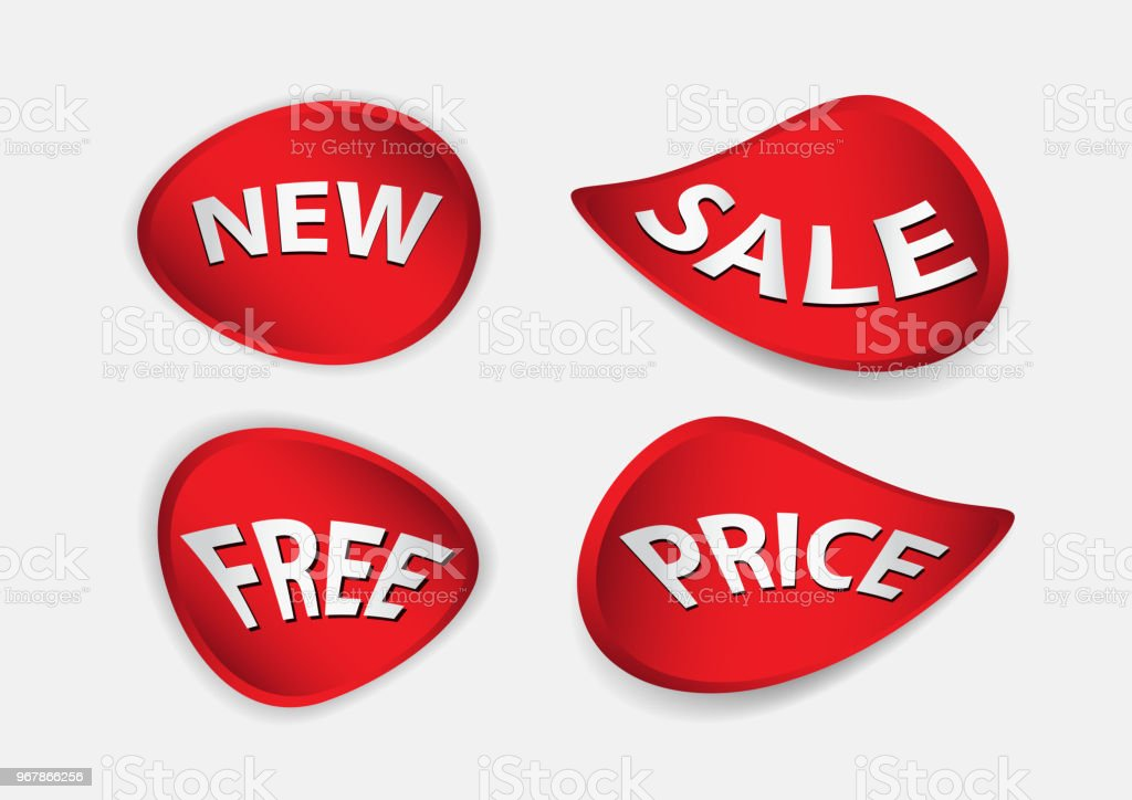 red banner vector sale banner template ribbons flat isolated labels stickers