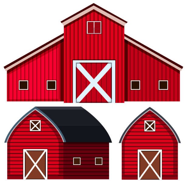 Best Red Barn Illustrations Royalty Free Vector Graphics