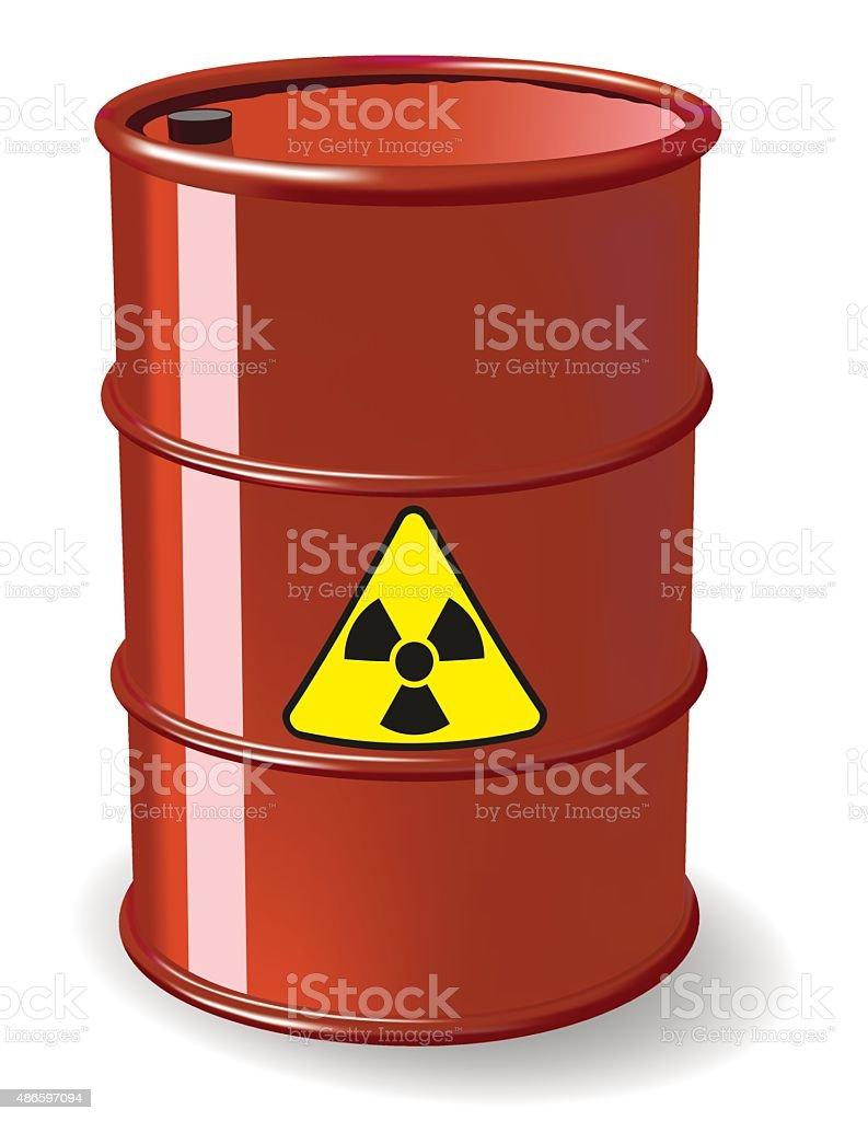 Red barrel vector art illustration