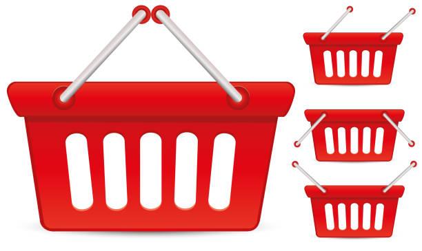 Red Baskets vector art illustration
