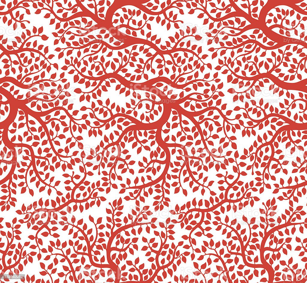 Red beautiful vector tree pattern royalty-free red beautiful vector tree pattern stock vector art & more images of autumn
