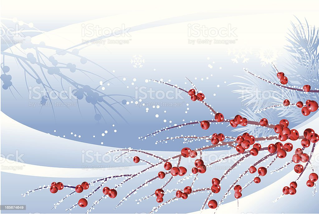 Red berries in snow royalty-free red berries in snow stock vector art & more images of art and craft