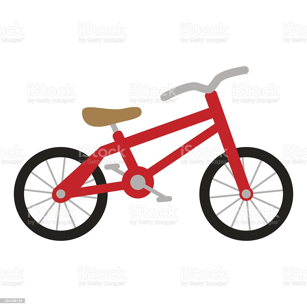 red bike vector art illustration