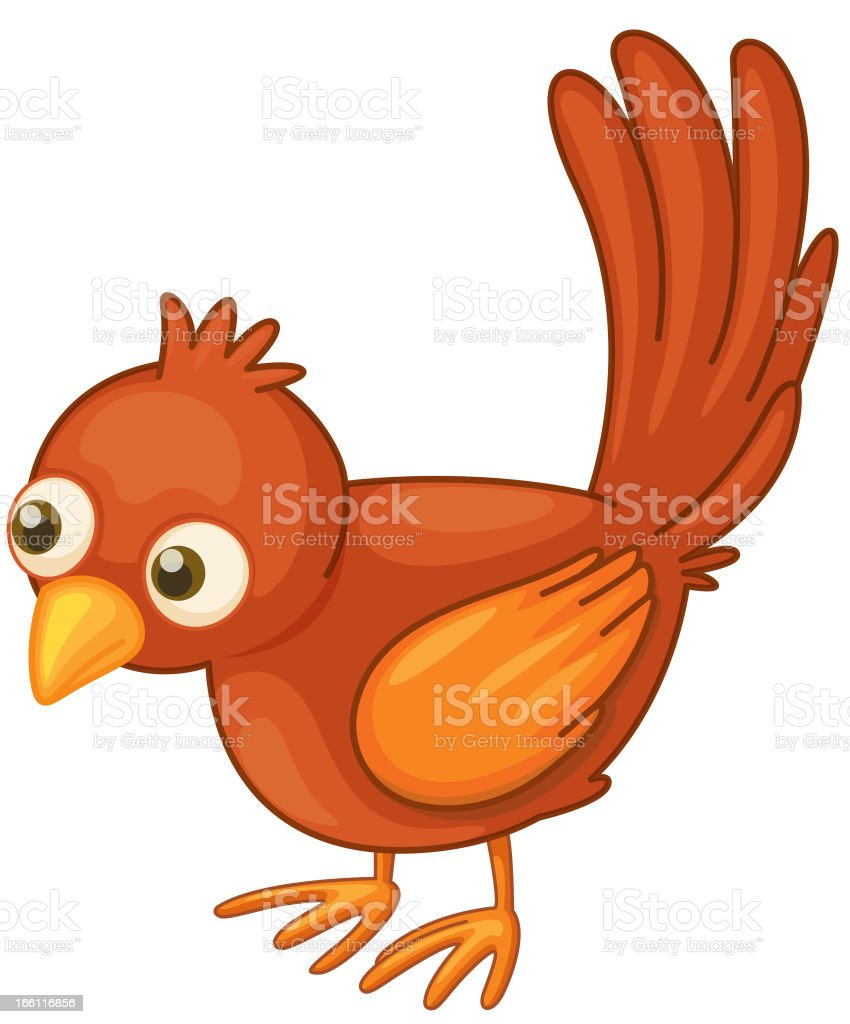Red bird on white royalty-free stock vector art