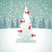 istock Red Birds on Christmas Tree 452372977