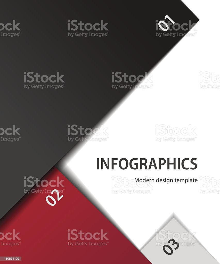 Red, black and gray design templates royalty-free stock vector art
