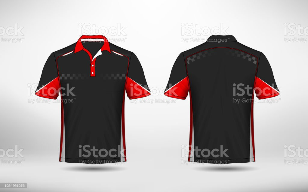fc49586a3b12 Red Black And White Layout Esport Tshirt Design Template Stock ...