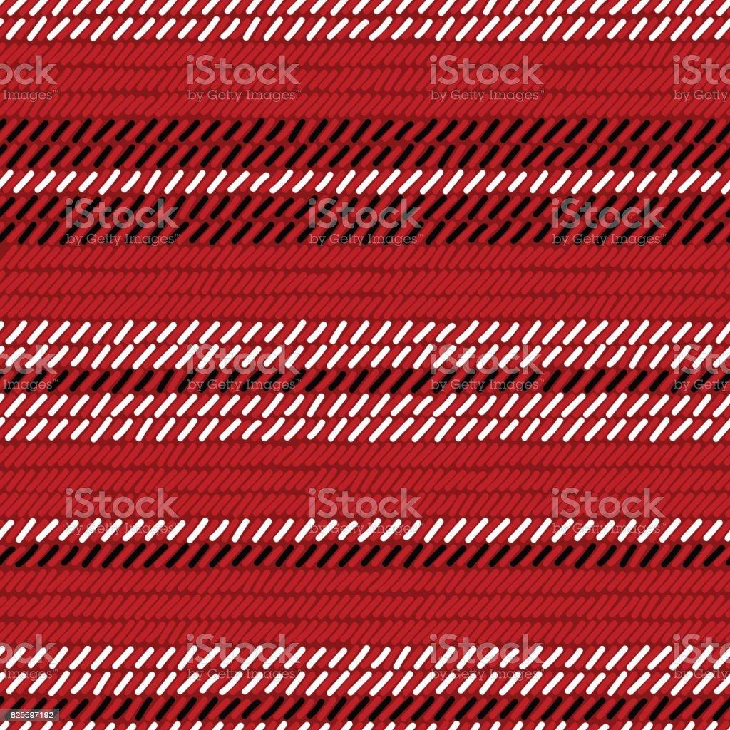 Ilustración de Rojo Y Negro Alfombra Tejida Tejido A Rayas De ...