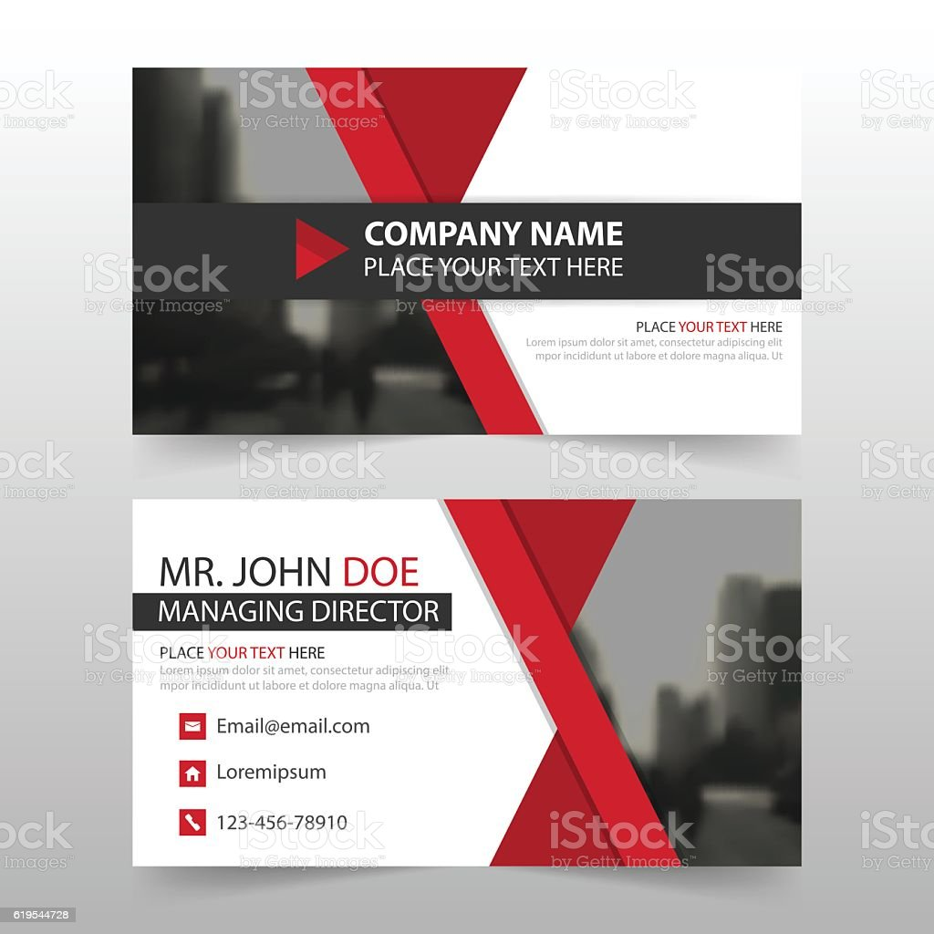 red black corporate business card header template flat design set