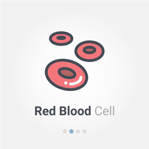 red blood cell vector icon red blood cell vector icon red blood cell stock illustrations