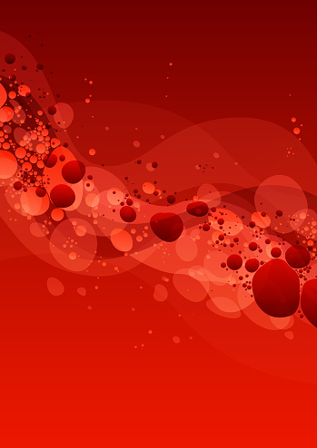 Abstract red blood cells lava lamp background illustration