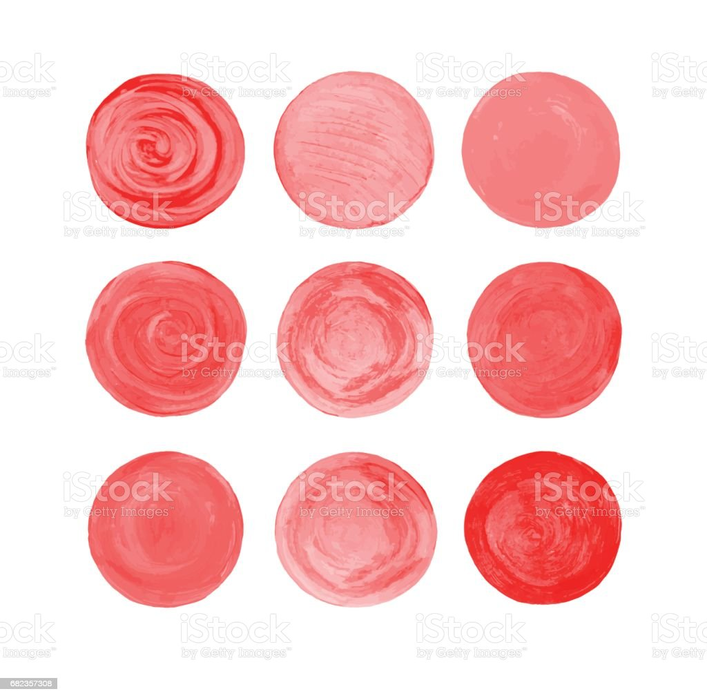 Jeu de cercles rouge sang vectorielles jeu de cercles rouge sang vectorielles – cliparts vectoriels et plus d'images de abstrait libre de droits