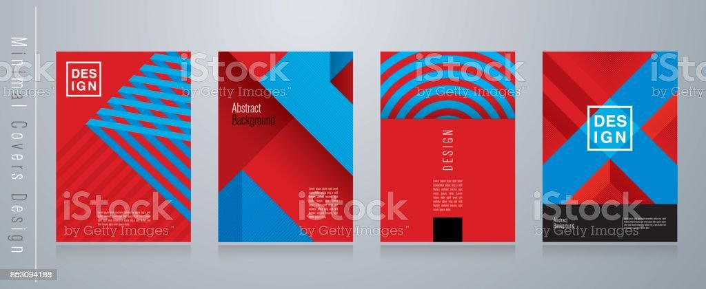 Red blue and black abstract background. Minimal covers design. vector art illustration