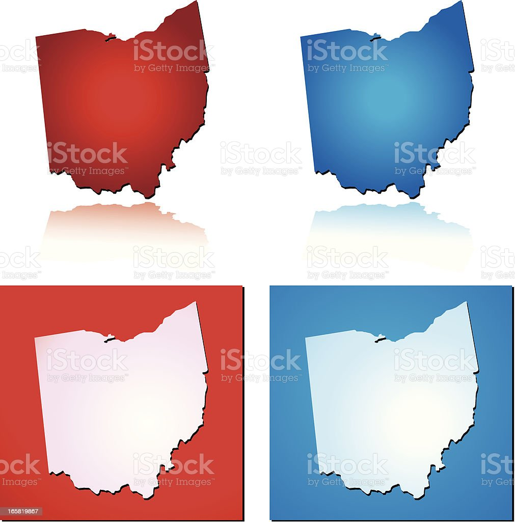 Red Blue Ohio royalty-free stock vector art
