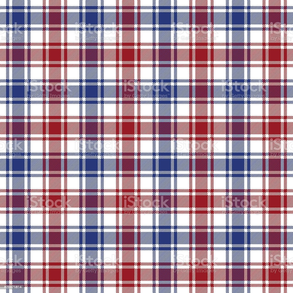 Red blue white check texture seamless pattern red blue white check texture seamless pattern - arte vetorial de stock e mais imagens de abstrato royalty-free