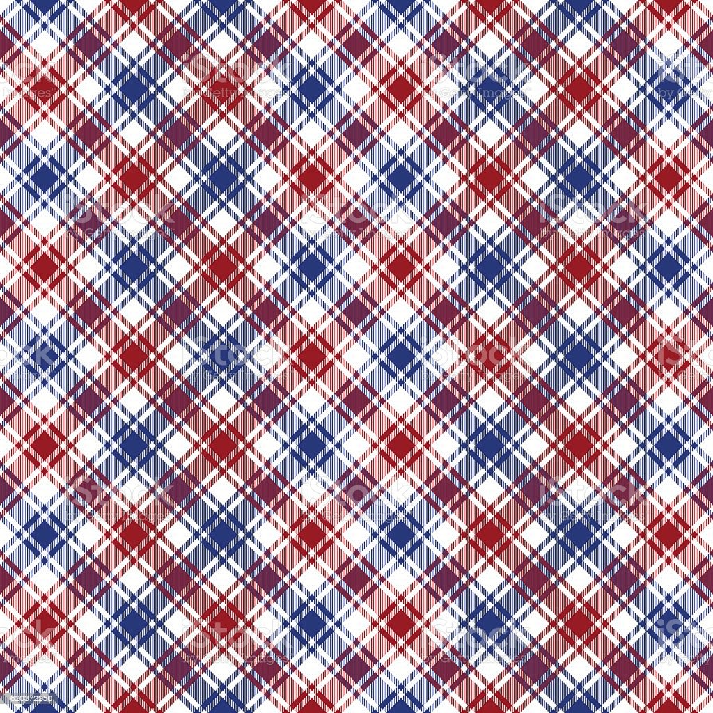Red blue white diagonal check fabric texture seamless pattern red blue white diagonal check fabric texture seamless pattern - arte vetorial de stock e mais imagens de abstrato royalty-free