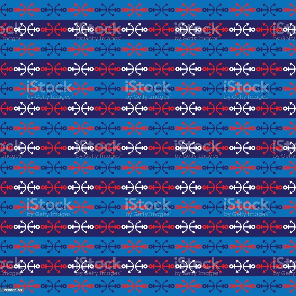 red blue white nautical stripe Lizenzfreies red blue white nautical stripe stock vektor art und mehr bilder von abstrakt
