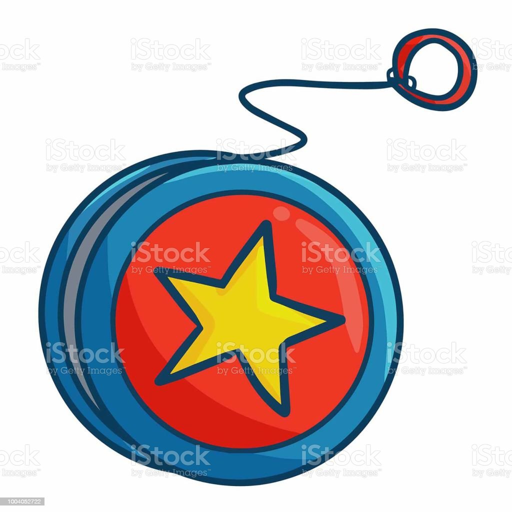 red blue yoyo with star