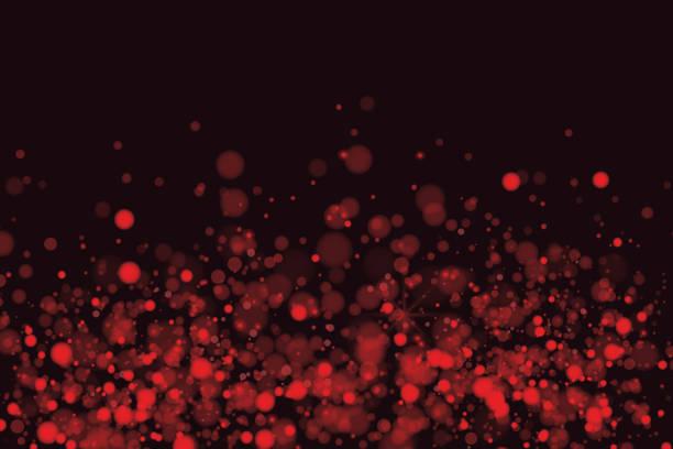 ボケ背景の赤 - 光 黒背景点のイラスト素材/クリップアート素材/マンガ素材/アイコン素材