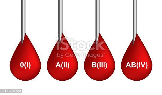 Red blood drops icons or bleeding symbols collection isolated on white background. Realistic 3d vector illustration of scarlet dripping, drips or droplets