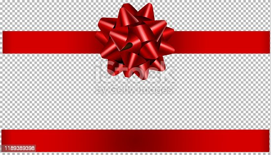 red bow and ribbon illustration for christmas and birthday decorations vector