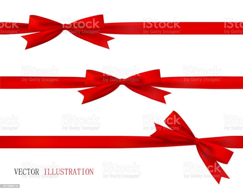 red bow and ribbon vector set of beautiful bows stock vector art rh istockphoto com ribbon vector art black and white cancer ribbon vector art