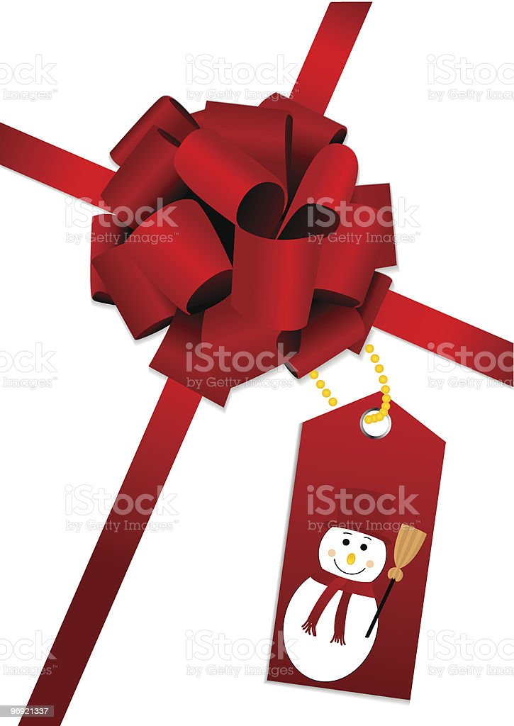 Red bow with snowman royalty-free red bow with snowman stock vector art & more images of box - container