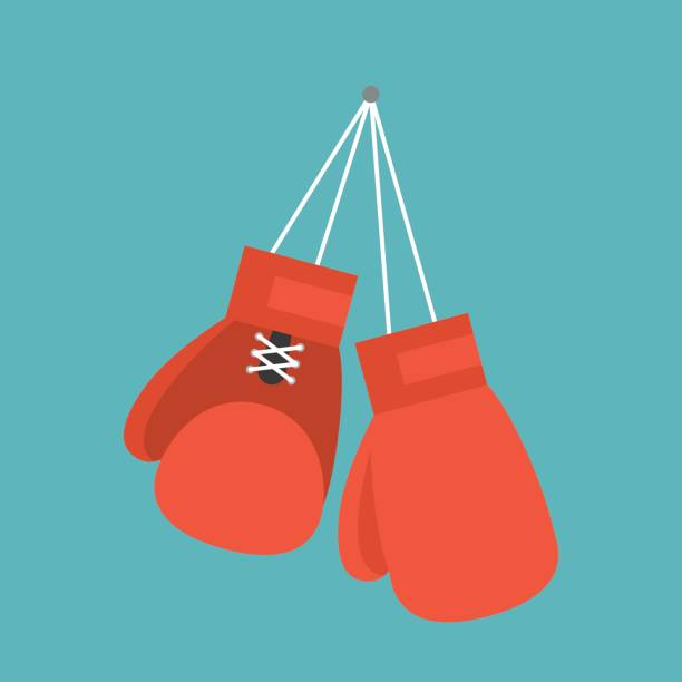 red boxing gloves - boxing gloves stock illustrations, clip art, cartoons, & icons