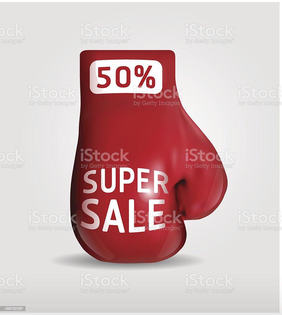 red boxing gloves.vector illustration.eps10.gradient mesh royalty-free stock vector art