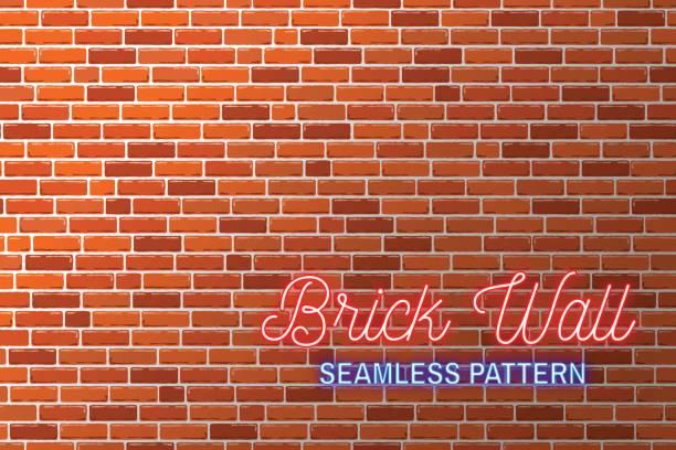 Fond de mur de briques rouges. Illustration vectorielle - Illustration vectorielle