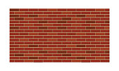 Red brick wall. Construction and building element.
