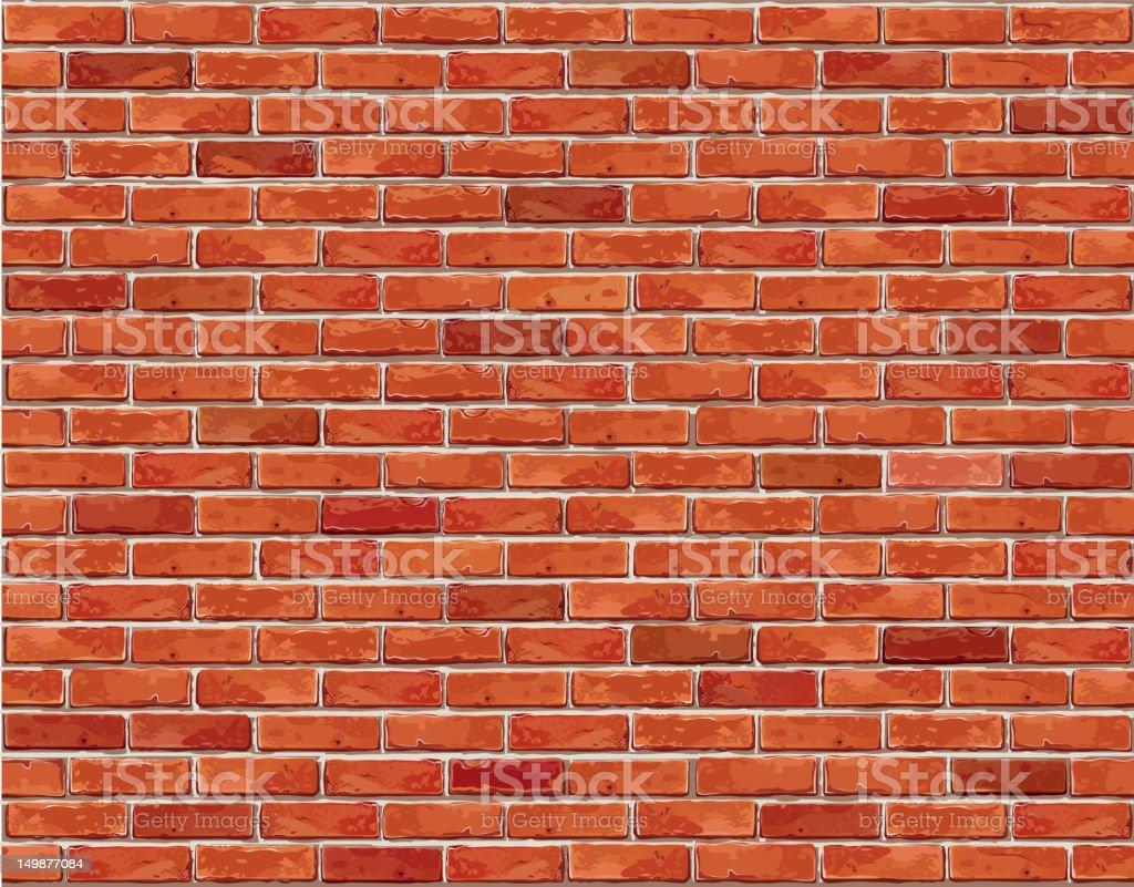 Fond de mur de brique rouge sans couture. - Illustration vectorielle