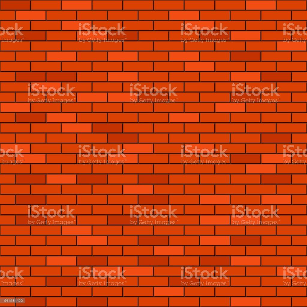 Mur En Brique Rouge fond sans couture mur de brique rouge vecteurs libres de droits et plus  d'images vectorielles de bloc