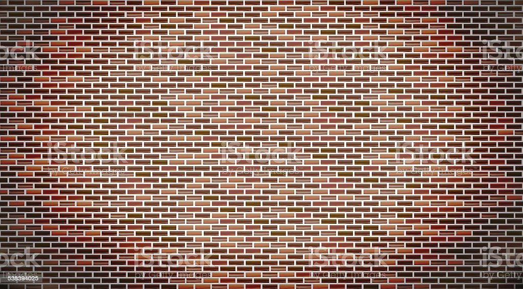 Red brick wall vector art illustration