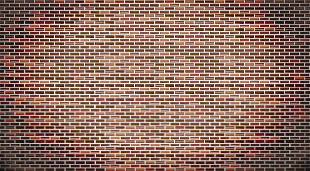 Mur de brique rouge  - Illustration vectorielle