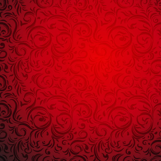 Red bright background Ornamental seamless pattern. Festive red style. Bright holiday background christmas backgrounds stock illustrations