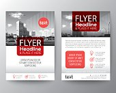 Red Brochure cover Flyer Poster design Layout template