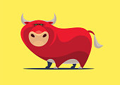 istock red bull character 1264070171