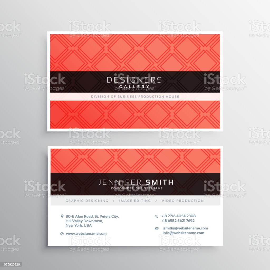 Red Business Identity Card Template Stock Vector Art & More Images ...