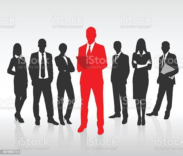 Vetores de Vermelho Empresário Silhueta Grupo De Pessoas De Negócios Preto Conceito De Equipe e mais imagens de 2015