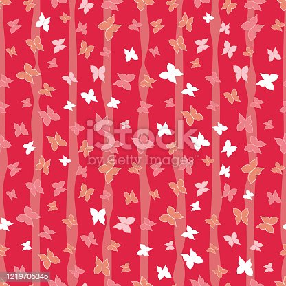 istock red butterflies forest seamless vector pattern 1219705345