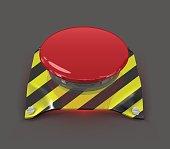 Vector emergency button.