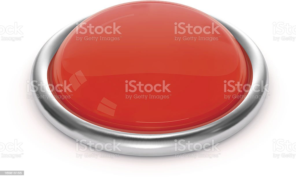 Red Button vector art illustration