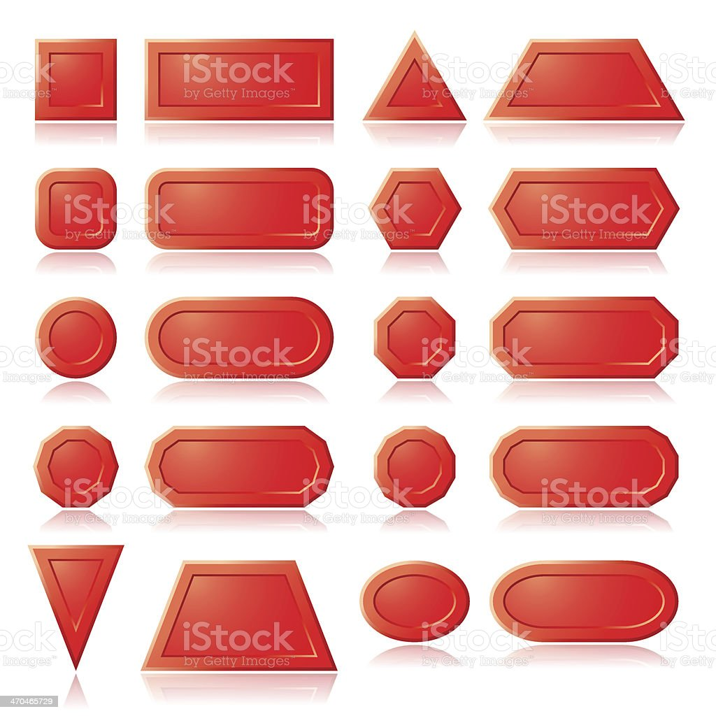 Red buttons shapes royalty-free stock vector art
