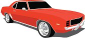 Red Camaro - 1969