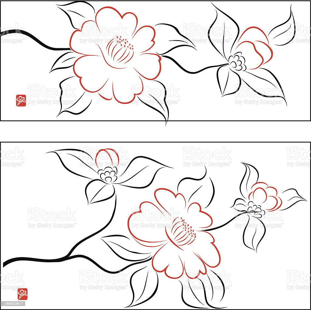 Red camellia royalty-free red camellia stock vector art & more images of art and craft